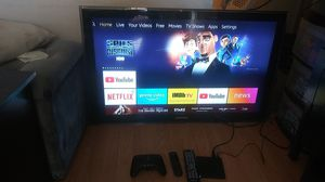 """40"""" tv with Amazon fire stick and Amazon gaming controller(no stand) for Sale in San Diego, CA"""