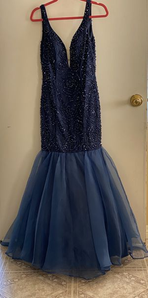 Blue beaded prom dress size small $75.00 for Sale in Pico Rivera, CA