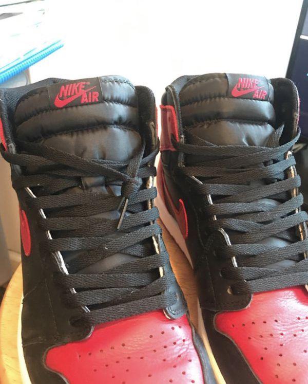 Nike Air Jordan Jordans banned bred 1 one