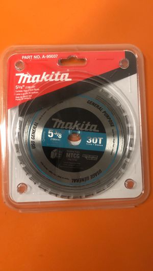 Makita 5 3/8 Skill Saw 30 Teeth Carbide Tipped Saw Blade Model A-95037 BRAND NEW for Sale in Chino, CA