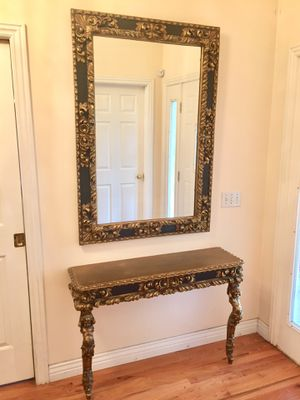 Entry way table and mirror - Baroque style for Sale in Pleasant Grove, UT