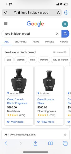 Brand New Creed Perfume 75ML Retails $380 for Sale in Los Angeles, CA