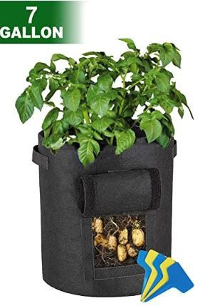Large REUSABLE 7 Gallon Grow Bags with Access Flap - 3 PK! for Sale in Frederick, MD