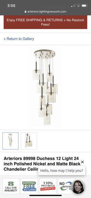 Arteriors Chandelier for Sale in Columbus, OH