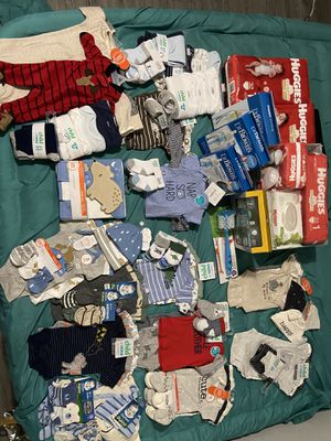 baby clothes & pampers for Sale in Houston, TX