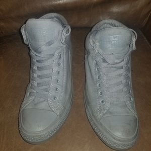 Converse all stars high tops padded all grey size mens 8 for Sale in St. Louis, MO