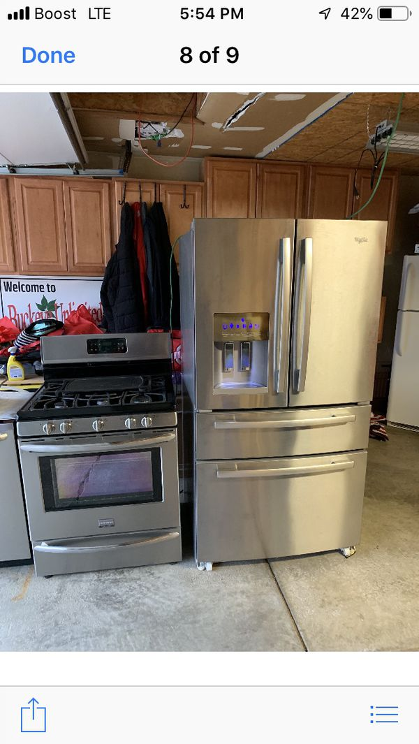 Refrigerator stove and other appliances. Whole set
