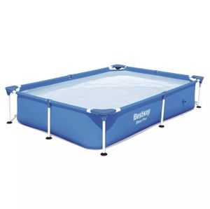 Bestway 7.25ft x 5ft x 17in Steel Pro Rectangular Above Ground Swimming Pool for Sale in Fresno, CA