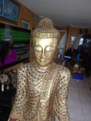 Tall authentic wood Buddha for Sale in North Miami, FL