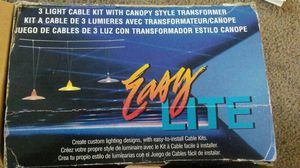 3 light cable kit with canopy style transformer for Sale in Kissimmee, FL