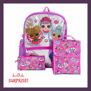 NWT Girls LOL Surprise! 5Pc Backpack Set for Sale in West Des Moines, IA