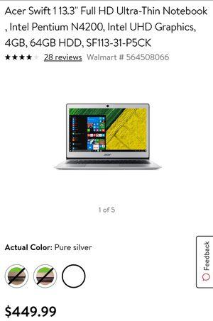 Acer swift 1 laptop for Sale in Harlingen, TX