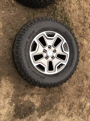 4 jeep jk rubicon wheels and tires for Sale in San Diego, CA