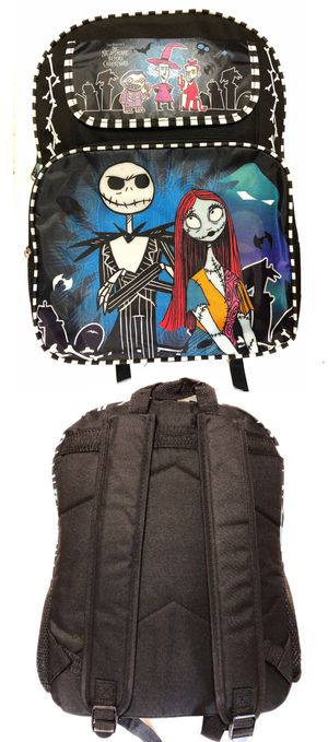 NEW! Disney the nightmare before Christmas jack Skellington Backpack Mickey Disneyland travel bag book bag Halloween haunted mansion travel bag for Sale in Long Beach, CA