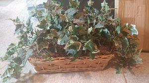 Fake plants in basket for Sale in Midvale, UT