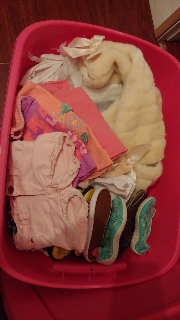 Two T bin toddler clothes, shoes, swim