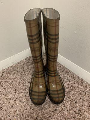 burberry women's rain boots. for Sale in Lorton, VA