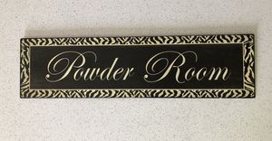 Powder Room Sign for Sale in San Antonio, TX