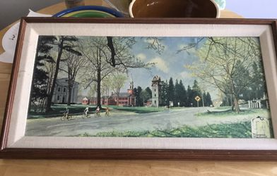 Springtime in Stockbridge by Normal Rockwell Framed $25 pickup in Petersburg, Illinois. for Sale in Petersburg,  IL