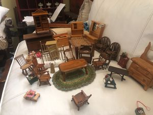Lot of Vintage and Antique Doll House Furniture for Sale in Chandler, AZ