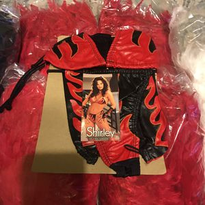 Flaming Lingerie Bikini Set w/ Gloves for Sale in Oxon Hill, MD