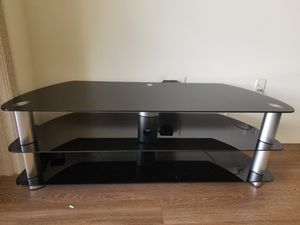Modern glass TV stand for Sale in Los Angeles, CA