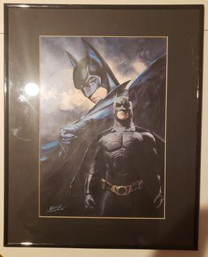 Framed Batman Painting for Sale in Lumberton, NJ