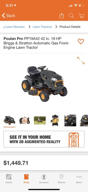 Poulan Pro 19 HP lawn tractor with many attachment for Sale in Danville, CA