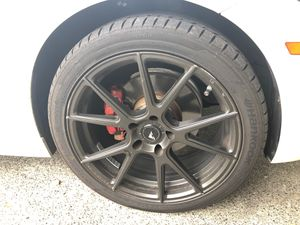 Rims and tires (tires BRAND new). for Sale in Edgewood, WA