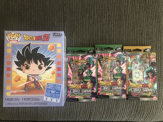 Dragonball Z Funko Pop and Tee and Card Bundle for Sale in Chino,  CA