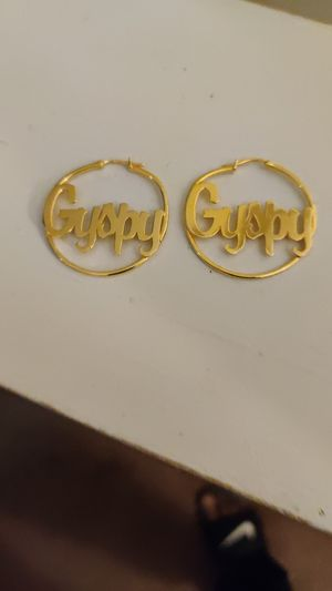 18-karat gold-plated earrings for Sale in Cleveland, OH