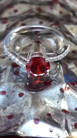 Red Zircon Ring Sterling Silver Sz 7 for Sale in Vancouver, WA