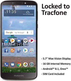 Tracfone Carrier-Locked Motorola Moto e5 4G LTE Prepaid Smartphone - Black - 16GB - Sim Card Included - CDMA for Sale in Oakland, CA