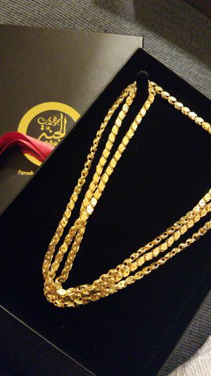 21k real gold chain for Sale in Paterson, NJ