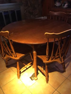 Antique Table and 3 chairs for Sale in Fort Worth, TX