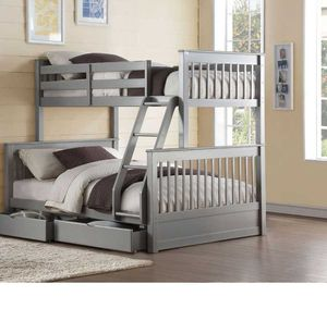 Twin/Full Bunk Bed w/2 Drawers - 37755 - Gray PQN for Sale in Ontario, CA