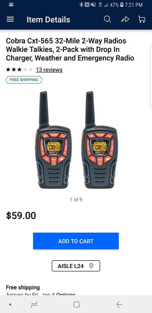 Walkies Talkies Professional 32 miles range for Sale in Manassas, VA