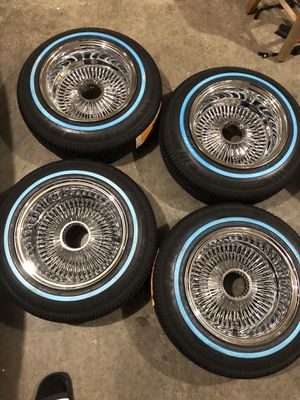 Brand new 13x7 100 spokes with new tires ready to go for Sale in Des Moines, WA