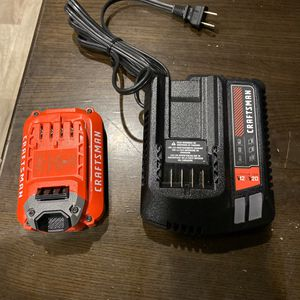 "Brand New ""NEVER USED"" Craftsman charger and Battery for Sale in Clarksville, TX"