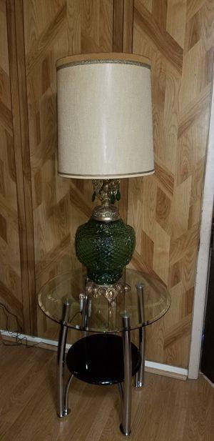 Antique green glass lamp. for Sale in Dallas, TX