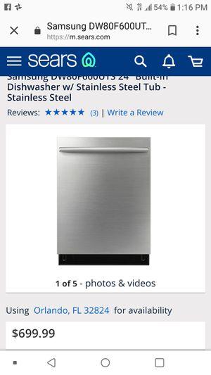 Samsung dishwasher stainless for Sale in Sarasota, FL