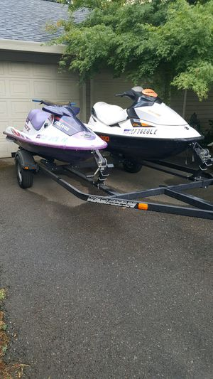 Two Jet Skis and Trailer for Sale in Cohasset, CA