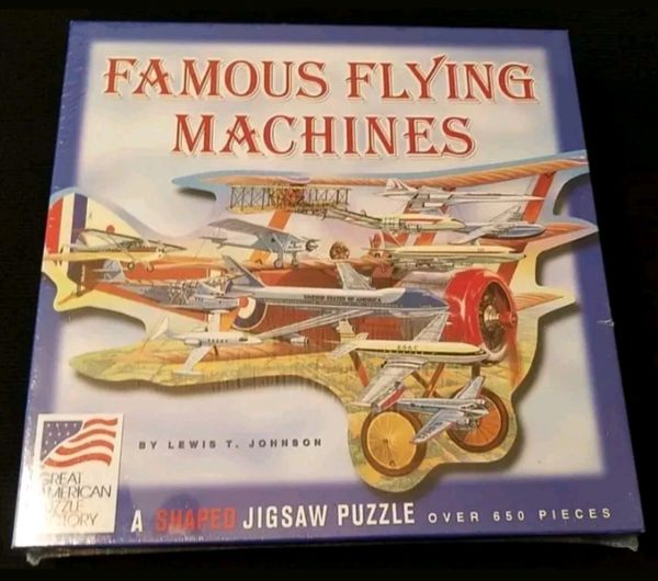 2003 FAMOUS FLYING MACHINES A Shaped Jigsaw Puzzle 650pc Puzzle Lewis T. Johnson