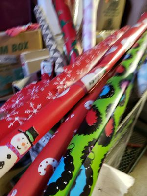 Box of holiday and normal Wrapping Paper for Sale in Puyallup, WA