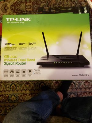 TP LINK ARCHER C5 AC1200 Wireless Dual Band Router for Sale in Park Ridge, IL
