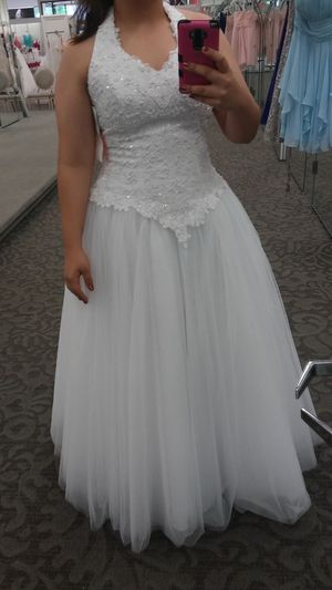 Wedding Dress with gloves. for Sale in Deltona, FL