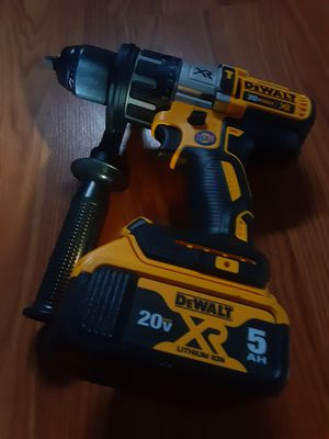 """Dewalt 20v xr brushless 1/2"""" ( 3 speeds hammer drill ( with a 5.0 Ah battery ( no charger for Sale in San Jose, CA"""
