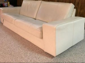 White leather couch. Great condition. for Sale in Riverwoods, IL