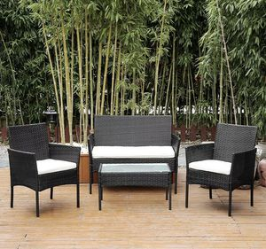SHIPPING ONLY 4 Piece Patio Set Furniture Chairs Table for Porch Garden Outdoor Backyard Areas for Sale in Las Vegas, NV