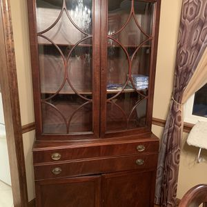 Antique China closet and matching Buffet server for Sale in West Mifflin, PA